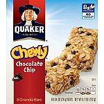 6 Box (8-Bar/Box) Quaker Chewy Granola Bars - Chocolate Chip $7.25 or less