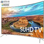 "Samsung UN65KS8500 Curved 65-Inch Smart 4K SUHD HDR 1000 LED TV $1949, 65"" LG 65UH8500 $1599, and more"