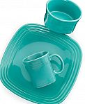 12-Sets of 3-Piece Fiesta Square Place Setting (various colors) $110 or 2 sets for $24