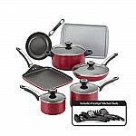 Farberware High Performance Nonstick 17-Piece Cookware Set Red + $51 SYWR points $61