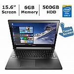 "Lenovo Edge 2-in-1 15.6"" FHD Touchscreen Laptop (Core i3-5020U 6GB 500GB Win10) $350"