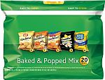 5 x 20ct Frito-Lay Baked and Popped Mix Variety Pack $21.60