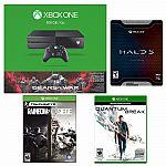 Xbox One 500GB Gears of War Console+Quantum Break+Halo Limited+Rainbow Six Siege $350