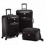 The American Tourister 3pc Brookfield sets $60 or 4pc $75