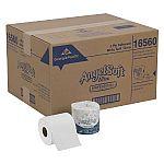 Angel Soft ps Ultra White 2-Ply Premium Embossed Bathroom Tissue, Case of 60 Rolls $32