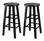 Set of 2 Winsome 24-Inch Square Leg Counter Stool $29