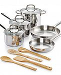 Martha Stewart Collection 12-Pc. Stainless Steel Cookware Set $40