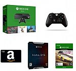 Xbox One 1TB Console - 3 Games Bundle + $50 Amazon Gift Card + Xbox One Wireless Controller + Halo 5 Limited Edition + Forza Horizon 2 (Digital Code) $369