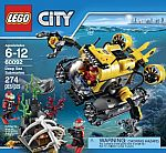 LEGO City Deep Sea Explorers 60092 Submarine Building Kit $24