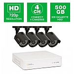 Q-see HeritageHD Series 4-Channel 720p 500GB Video Surveillance System $199