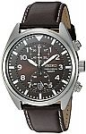 Seiko Men's SNN241 Stainless Steel Watch with Brown Leather Band $61 and more