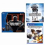 Sony PlayStation 4 Call of Duty Black Ops 3 500GB Bundle+Overwatch+Star Wars (Voucher) $379