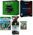 Microsoft Certified Xbox One 500GB Console w/Kinect - 5 GAME BUNDLE w/ Halo 5 LE (Manufacturer refurbished) $279