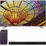 LG 55UH6550 55-Inch 4K UHD Smart TV w/ SH5B 2.1ch 320W Sound Bar Bundle $849