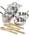 Martha Stewart Collection 12-Pc. Stainless Steel Cookware Set $50
