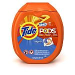 81-Count Tide Pods Laundry Detergent Pacs (Free & Gentle) $13