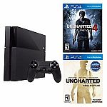 Sony PlayStation 4 Console + Uncharted 4 + Uncharted Collection $359