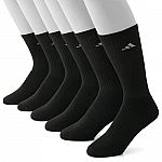 12-Pair Adidas Men's Climalite Performance Cushioned Crew or Low-Cut Socks $16