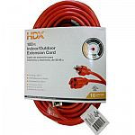 HDX 100 ft. 16/3 Extension Cord $7.88