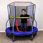 """Skywalker Bounce-N-Learn 55"""" Round Trampolines with Safety Enclosure $49"""