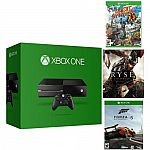 500GB Microsoft Xbox One Console (Refurbished) + 3 Games $230