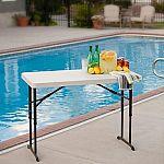 4' Lifetime Height Adjustable Folding Table $34