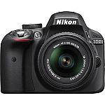 Nikon D3300 24.2 MP Digital SLR with 18-55mm VR II Lens (Manufacturer refurbished) $299