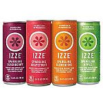 IZZE Sparkling Juice, 4 Flavor Variety Pack, 8.4 Ounce (Pack of 24) $12.44