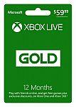 Xbox LIVE 12 Month Gold Membership (Digital Code) $33