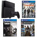 PlayStation 4 500GB Console+Tom Clancy's Division+AC Syndicate+Rainbow Six Siege $389