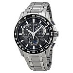 Citizen Men's Perpetual Chronograph Eco-Drive Titanium A-T Watch $300