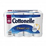Cottonelle CleanCare Family Roll Toilet Paper Bath Tissue, 36 Rolls $16.50