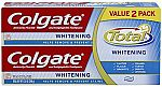 Colgate Total Whitening Toothpaste Twin Pack (two 6oz tubes) $3.22 or less