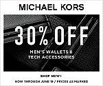 30% off Men's Wallets and Tech Accessories