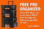 Ridgid Pro Tool Box Set $98
