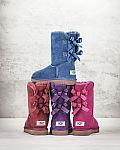 UGG Bailey Bow-Back Boot + 2X Lauren Ralph Lauren Face Cloth $101
