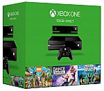 Xbox One 500GB Kinect Bundle with Dance Central 3, Sports Rivals & Zoo Tycoon $229
