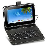 "iRULU eXpro X1 9"" Quad Core Android 4.4 KitKat Bluetooth 8GB Tablet w/ Keyboard $45"