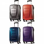 "Samsonite Winfield 2 Fashion Hardside 20"" Spinner Luggage Carry On Suitcase $80"