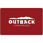 Outback Steakhouse Pre-Owned Gift Card $25 for $18.75