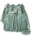 Up to 70% off Fossil Bags: Jules Fringe Leather Drawstring Mini Bag $55 and more