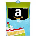 Amazon Prime Members: Purchase $50 Amazon Gift Card + Get $10 Credit