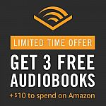 Prime Exclusive: Audible 3-month Free Trial + $10 Amazon Credit