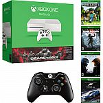 Xbox One 500GB (Save $160) Bonus Gears of War, Minecraft, Choice Game, and Wireless Controller $279
