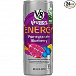 Prime Members: 24-Pack of 8oz V8 V-Fusion +Energy Drink (Various Flavors) $8.75