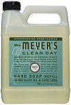 Mrs. Meyers Liquid Hand Soap Refill, Basil Scent 33 Oz $4.42
