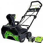 "GreenWorks Pro 20"" 80V Snow Thrower w/ 2Ah Battery & Charger $266"
