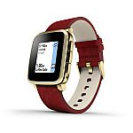 Pebble Time Steel Smartwatch for Apple/Android Devices - Gold (Certified Refurbished) $100