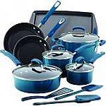 Rachael Ray 14-pc. Hard Enamel Nonstick Cookware Set + $10GC $76