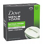 10-Pack of Dove Men+Care Body and Face Bars (Extra Fresh 4 oz) $8